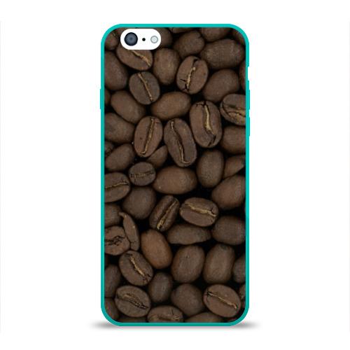 Чехол для Apple iPhone 6 силиконовый глянцевый Кофе Фото 01