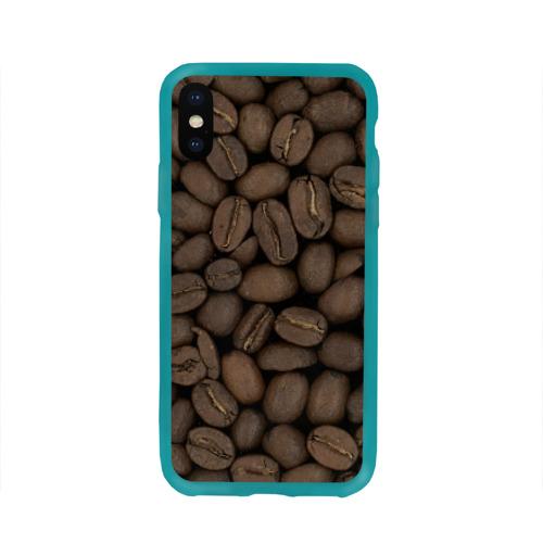 Чехол для Apple iPhone X силиконовый глянцевый Кофе Фото 01