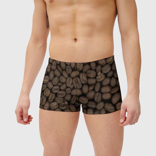Мужские купальные плавки 3D Кофе Фото 01