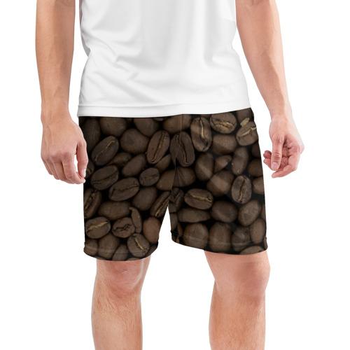 Мужские шорты 3D спортивные  Фото 03, Кофе