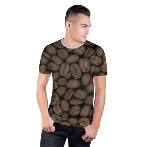 Мужская футболка 3D спортивная Кофе Фото 01