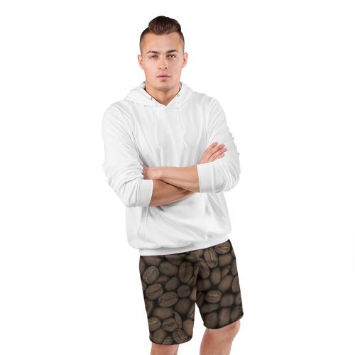 Мужские шорты 3D спортивные  Фото 05, Кофе