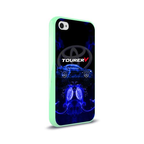 Чехол для Apple iPhone 4/4S силиконовый глянцевый Toyota chaser Фото 01