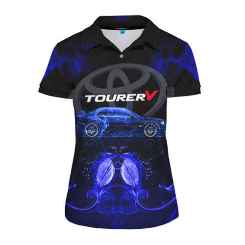 Женская рубашка поло 3D Toyota chaser