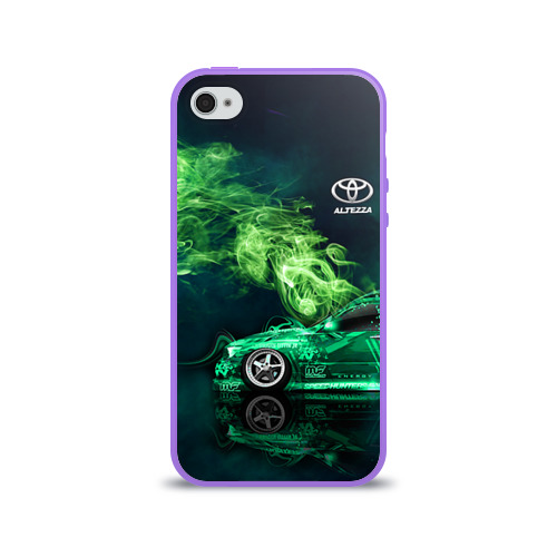 Чехол для Apple iPhone 4/4S силиконовый глянцевый Toyota Altezza Фото 01