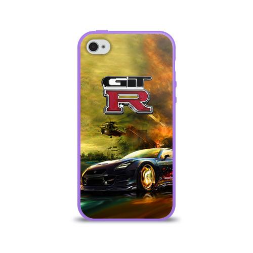 Чехол для Apple iPhone 4/4S силиконовый глянцевый  Фото 01, Nissan GTR