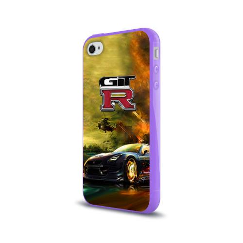 Чехол для Apple iPhone 4/4S силиконовый глянцевый  Фото 03, Nissan GTR