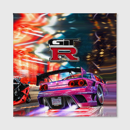 Холст квадратный  Фото 02, Nissan GTR