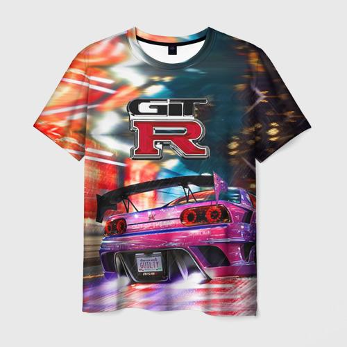 Мужская футболка 3D  Фото 01, Nissan GTR