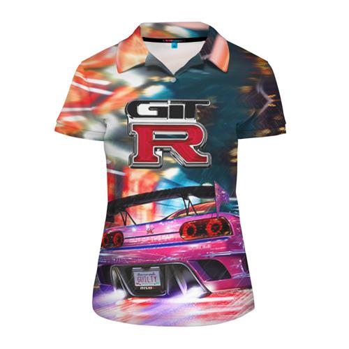 Женская рубашка поло 3D Nissan GTR