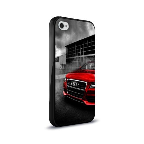 Чехол для Apple iPhone 4/4S силиконовый глянцевый  Фото 02, Audi
