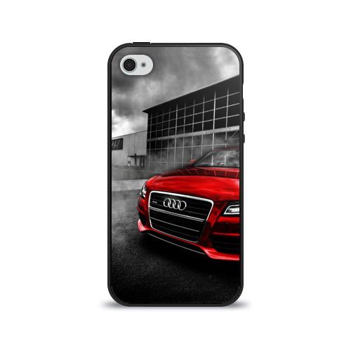 Чехол для Apple iPhone 4/4S силиконовый глянцевый  Фото 01, Audi