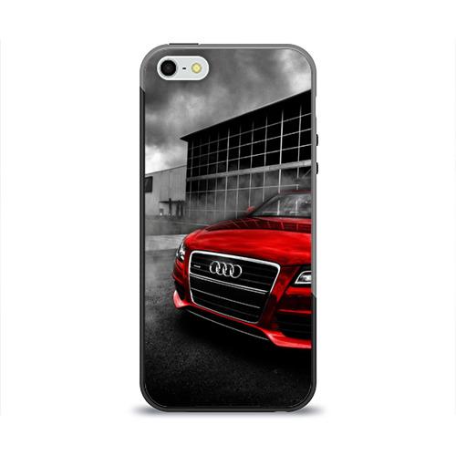 Чехол для Apple iPhone 5/5S силиконовый глянцевый Audi от Всемайки