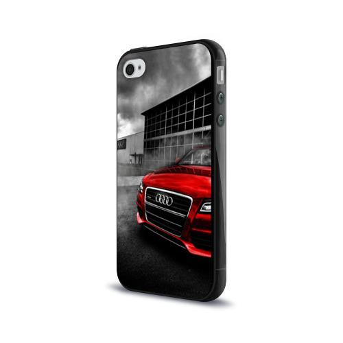 Чехол для Apple iPhone 4/4S силиконовый глянцевый  Фото 03, Audi