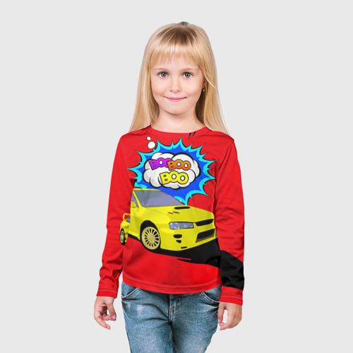 Детский лонгслив 3D  Фото 03, Subaru Impreza