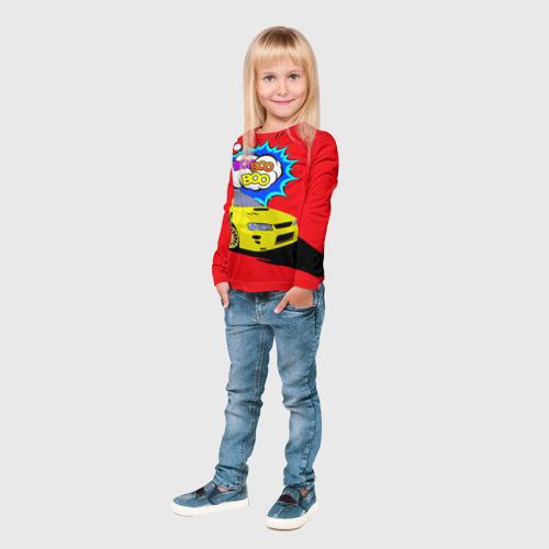 Детский лонгслив 3D  Фото 04, Subaru Impreza