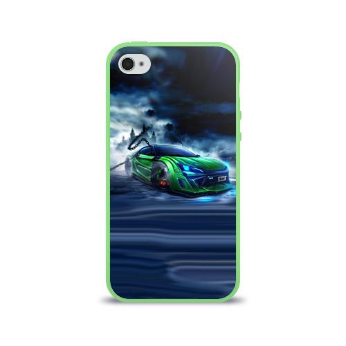 Чехол для Apple iPhone 4/4S силиконовый глянцевый  Фото 01, Toyota FT-86