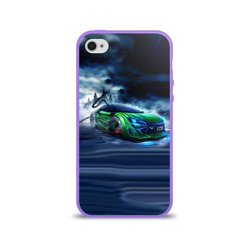 Чехол для Apple iPhone 4/4S силиконовый глянцевый Toyota FT-86 Фото 01