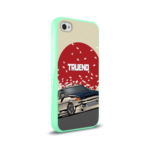 Чехол для Apple iPhone 4/4S силиконовый глянцевый Toyota Trueno ae86 Фото 01