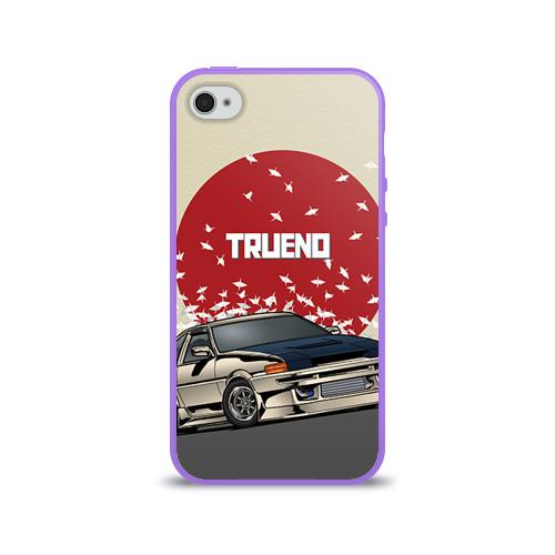Чехол для Apple iPhone 4/4S силиконовый глянцевый  Фото 01, Toyota Trueno ae86