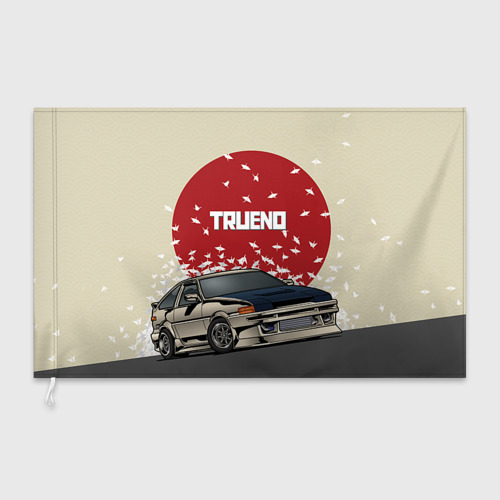 Флаг 3D Toyota Trueno ae86 Фото 01