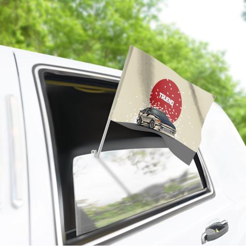 Флаг для автомобиля Toyota Trueno ae86 Фото 01