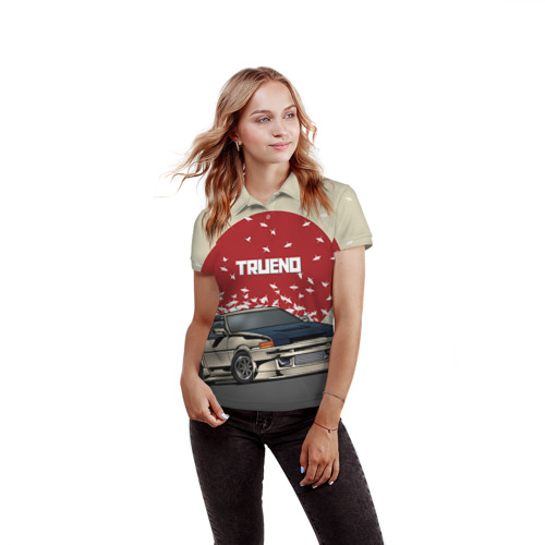 Женская рубашка поло 3D Toyota Trueno ae86 Фото 01