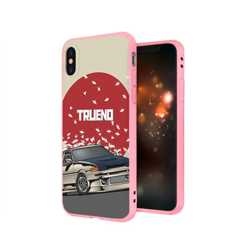 Чехол для Apple iPhone X силиконовый матовый Toyota Trueno ae86 Фото 01