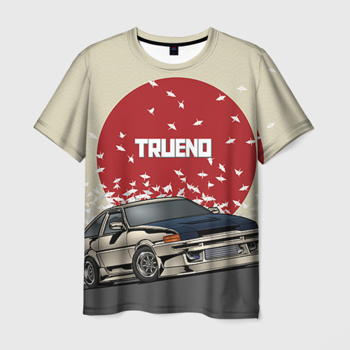 Мужская футболка 3D Toyota Trueno ae86
