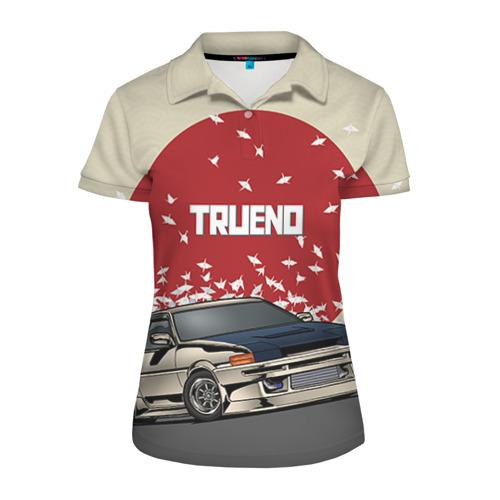 Женская рубашка поло 3D Toyota Trueno ae86
