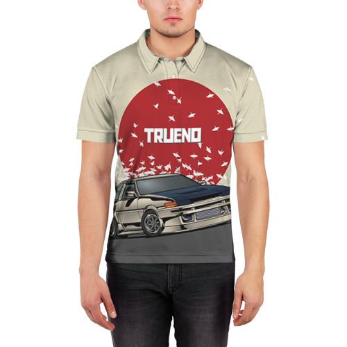 Мужская рубашка поло 3D Toyota Trueno ae86 Фото 01