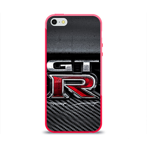 Чехол для Apple iPhone 5/5S силиконовый глянцевый Nissan GTR от Всемайки
