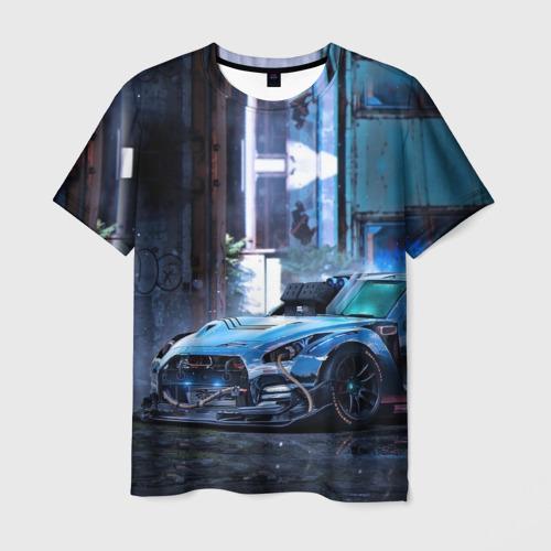 Мужская футболка 3D  Фото 03, Nissan GTR R35