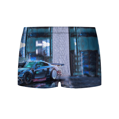 Мужские трусы 3D Nissan GTR R35 Фото 01