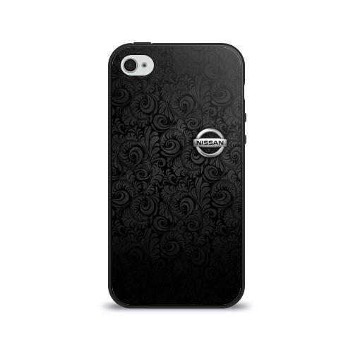 Чехол для Apple iPhone 4/4S силиконовый глянцевый  Фото 01, Nissan