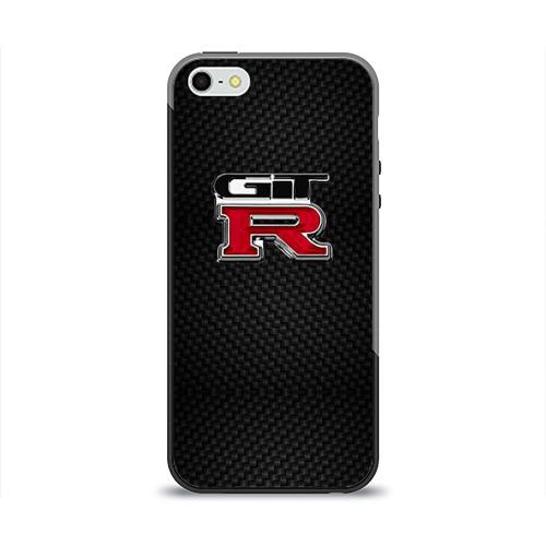 Чехол силиконовый глянцевый для Телефон Apple iPhone 5/5S Nissan GTR