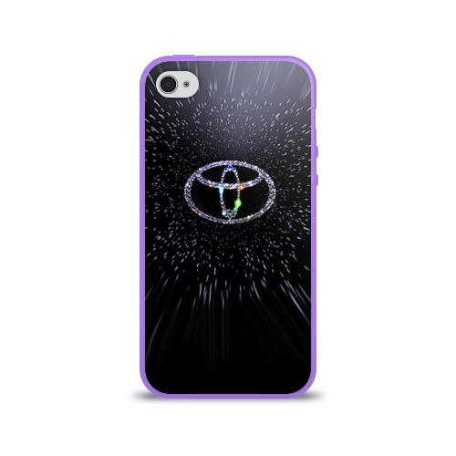Чехол для Apple iPhone 4/4S силиконовый глянцевый  Фото 01, Toyota