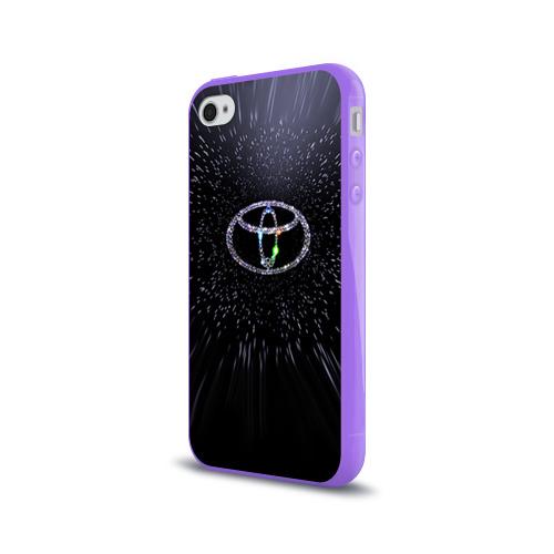 Чехол для Apple iPhone 4/4S силиконовый глянцевый  Фото 03, Toyota