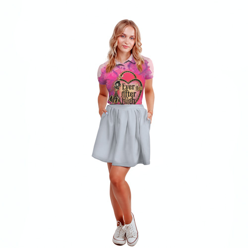Женская рубашка поло 3D  Фото 04, Замок и ключик