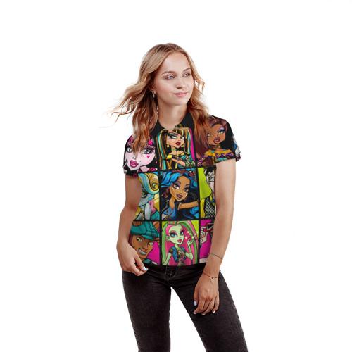 Женская рубашка поло 3D  Фото 03, Monster High