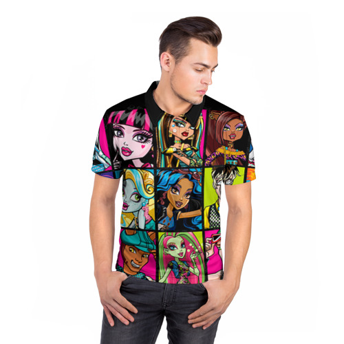 Мужская рубашка поло 3D  Фото 05, Monster High