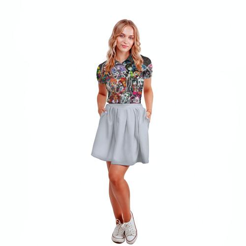 Женская рубашка поло 3D  Фото 04, Monster High