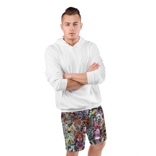 Мужские шорты 3D спортивные  Фото 05, Monster High