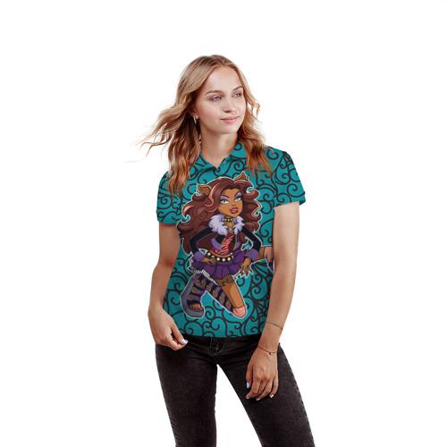 Женская рубашка поло 3D  Фото 03, Сlawdeen wolf
