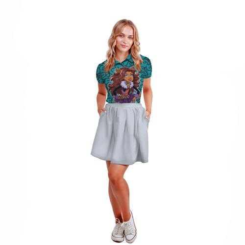 Женская рубашка поло 3D  Фото 04, Сlawdeen wolf