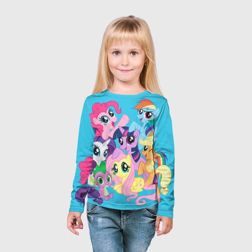 Детский лонгслив 3D  Фото 03, My Little Pony