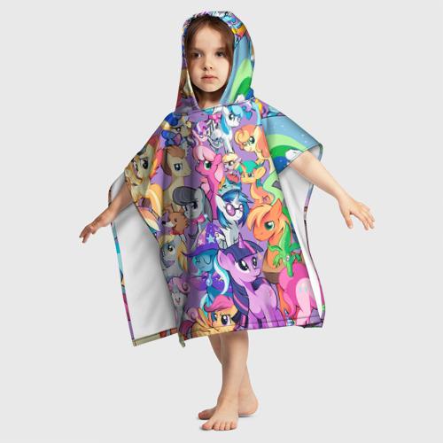 Детское полотенце-пончо с капюшоном 3D My Little Pony Фото 01