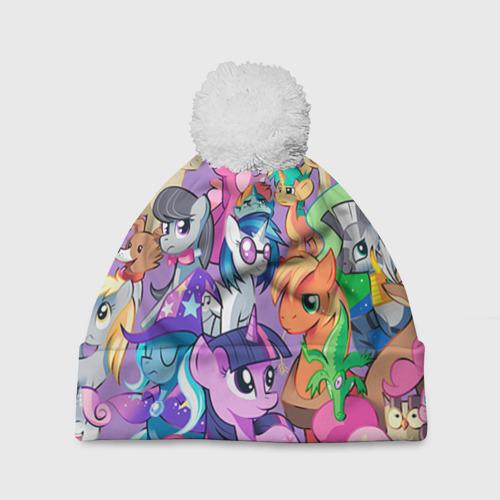 Шапка 3D c помпоном  Фото 01, My Little Pony