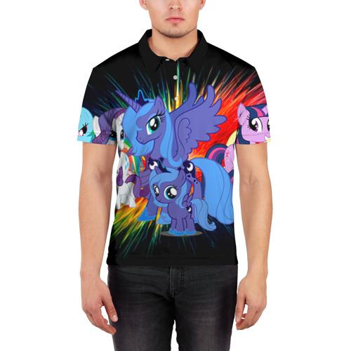 Мужская рубашка поло 3D  Фото 03, My Little Pony