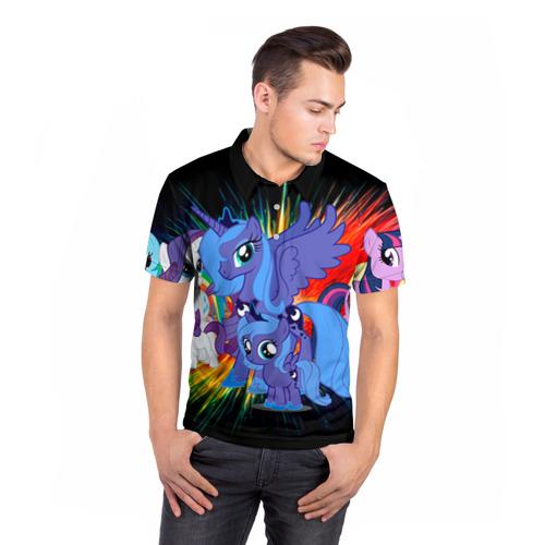 Мужская рубашка поло 3D  Фото 05, My Little Pony